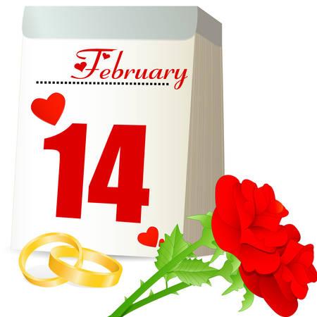 marrying: calendar 14 february Illustration