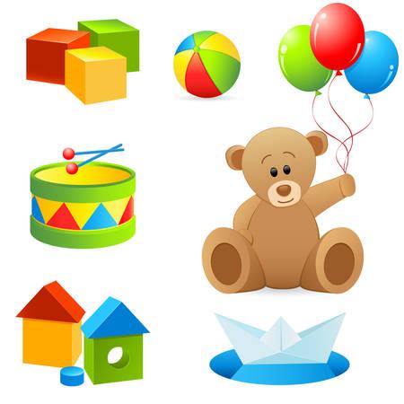 optionnel: collection de jouets isol�e sur fond blanc