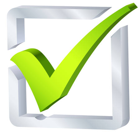 garrapata: s�mbolo de la lista de verificaci�n Vectores