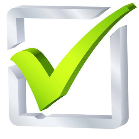 tick: symbole de liste de v�rification Illustration