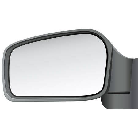 see side: isolated car mirror Illustration