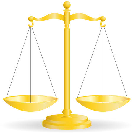 law scale: gold scale