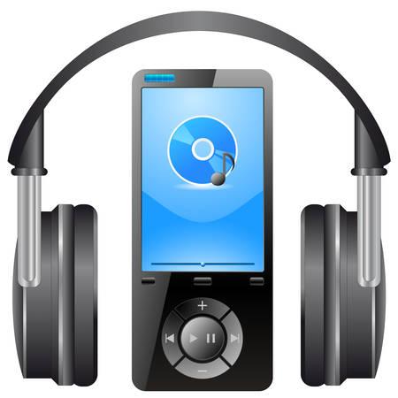 mobil: MP3-speler, hoofdtelefoon