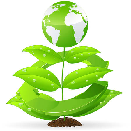 environmental science: recycling earth Illustration