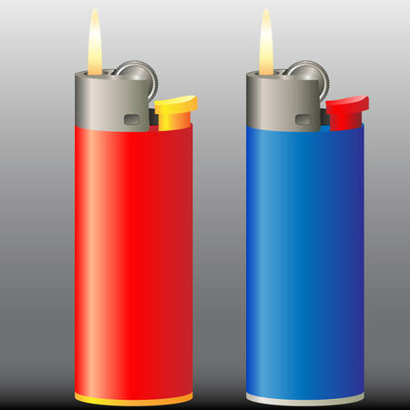 burning cigarette lighter Stock Vector - 8678943