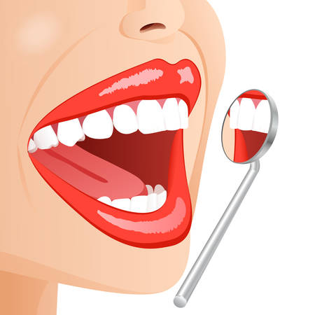 dental examination Stock Vector - 8891403