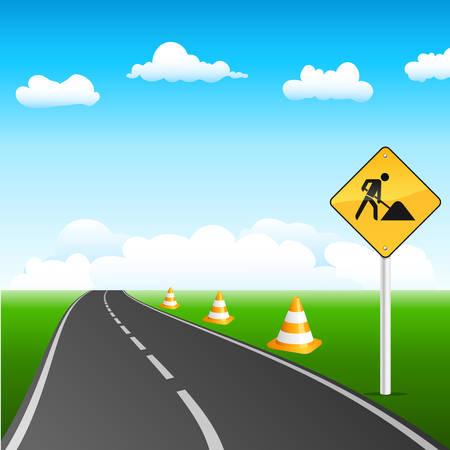 blocco stradale: costruzione di strade