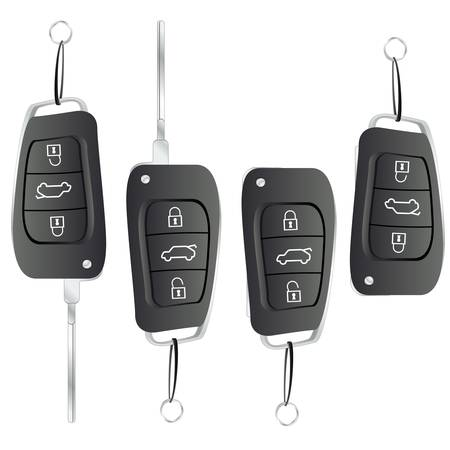 key chain: clave de coche Vectores
