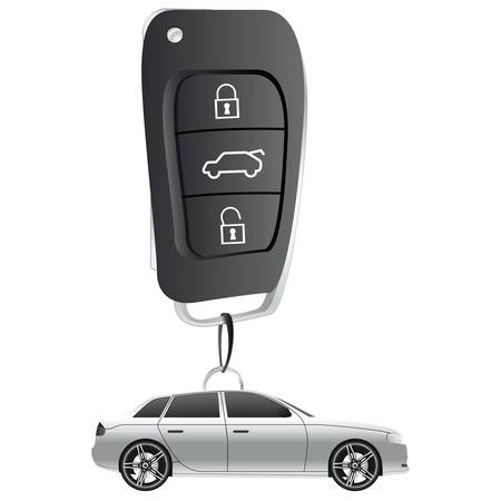 auto illustratie: auto key ring illustratie