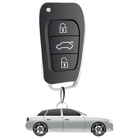 keys isolated: Ilustraci�n de llavero de coche