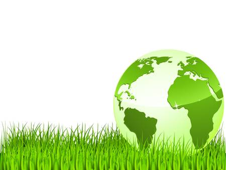 green earth on green grass Stock Vector - 9814997