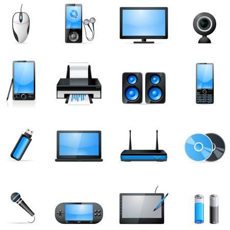 speaker box: conjunto de iconos de electonic