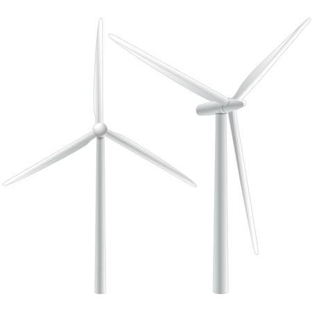 regenerating: winmills isolated on white background Illustration