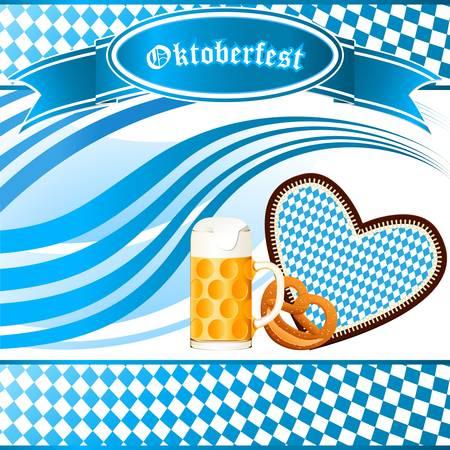 bavarian: Oktoberfest party invitation Illustration