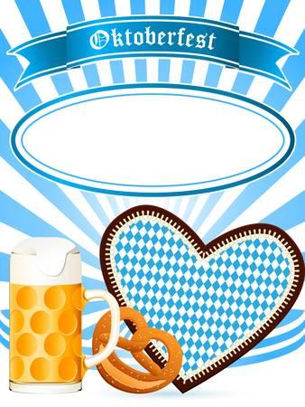 chope biere: Invitation Oktoberfest partie Illustration