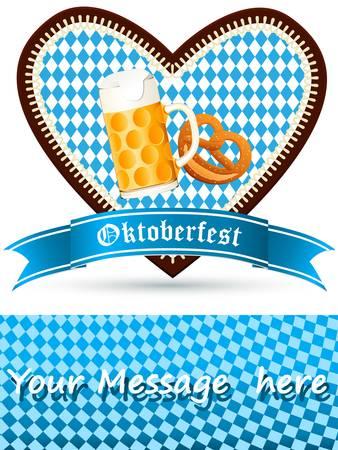 beer stein: Oktoberfest party invitation Illustration