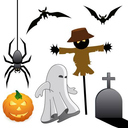 halloween icons  Stock Vector - 10792404