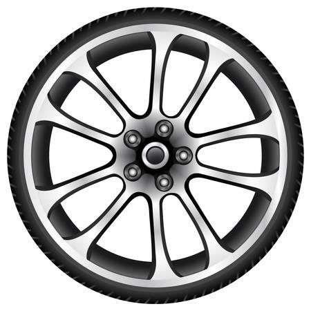 aluminum wheels: ruedas de aluminio Vectores