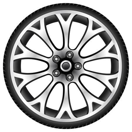 aluminum wheel Stock Vector - 13625085