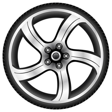 aluminium wiel Stock Illustratie