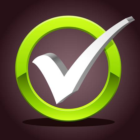 check list: 3D check mark symbol Illustration