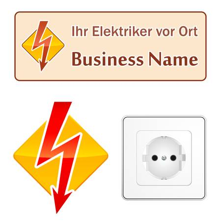 electrician (sign, symbol) Stock Vector - 13725531