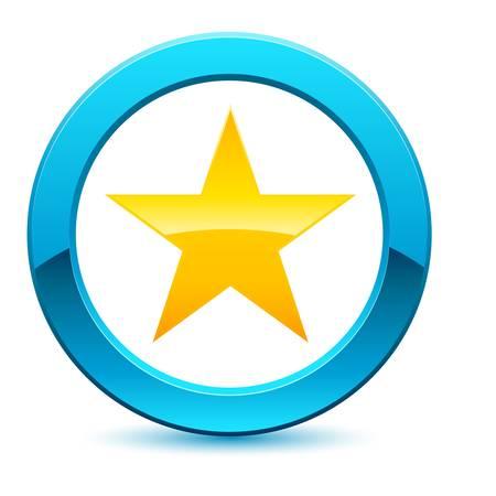 ster: 3D abstracte ster ring Stock Illustratie