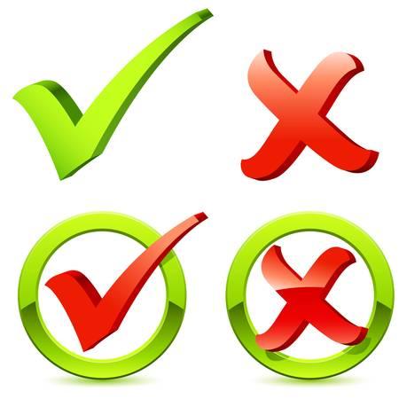 checkbox: controllare e attraversare marchio Vettoriali