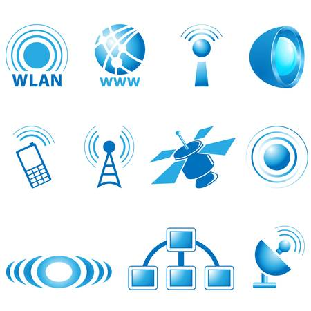 internet radio: communication icons