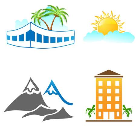 travel and holiday icons Stock Vector - 14014132