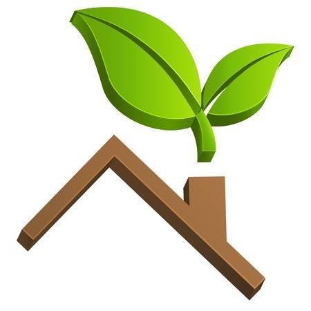 housetop, real estate sign Stock Vector - 14271153