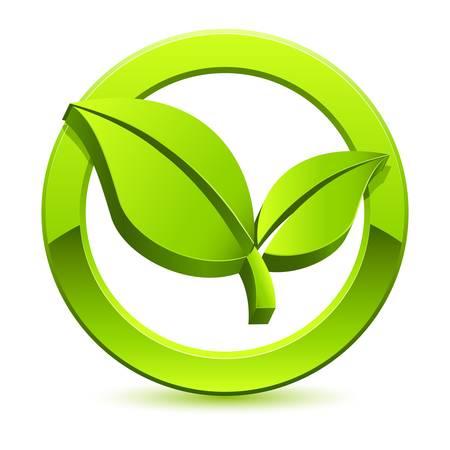 �cologie: vert signe �co Illustration