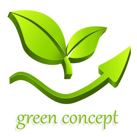 eco icon: green eco sign Illustration