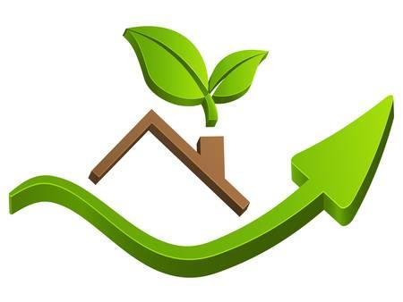 housetop, real estate sign Illustration
