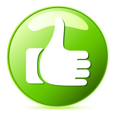 like button, thumb up Vector