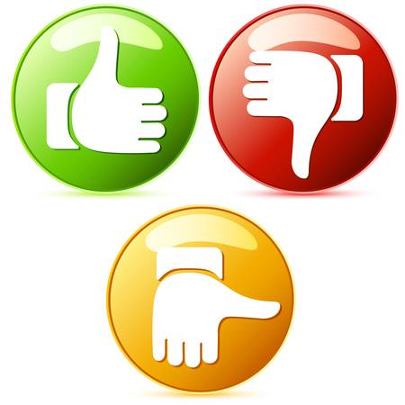 Thumb up and down buttons Vector