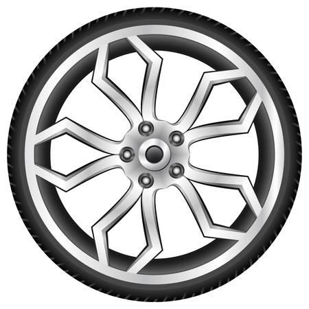 aluminum wheel Stock Vector - 14645407