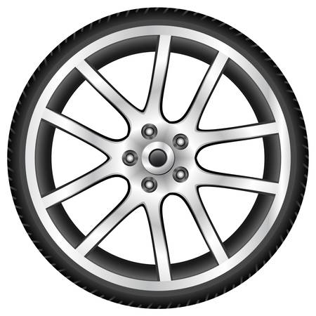aluminum wheel Vector