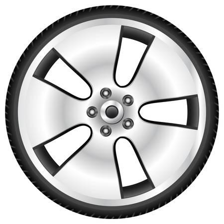 aluminum wheel Stock Vector - 14684338