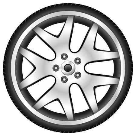 aluminum wheel Stock Vector - 14684340