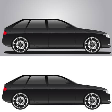 modern black car Stock Vector - 14926666