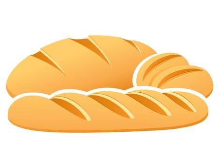 bread, rolls, baguette Vector