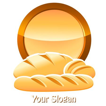 bakery sign with bread, baguettes and rolls Vector