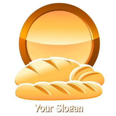 pain frais: signe boulangerie avec du pain, baguettes et petits pains