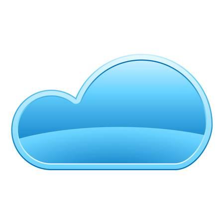 blue cloud Vector