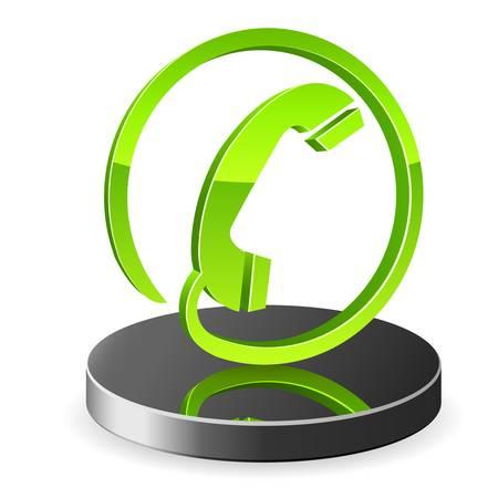 3d telefon ikon