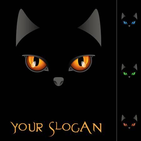 mammals: glowing cat eyes