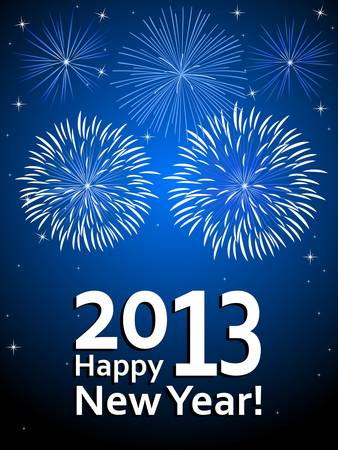 fire works: Happy New Year 2013 Illustration