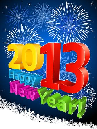 newyear night: Happy New Year 2013 Illustration