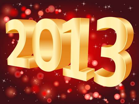 2013 on red background Stock Vector - 15572292
